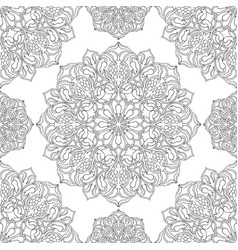 Floral pattern of mandalas vector