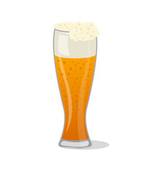Glass pint tankards of frothy beer isolated icon vector