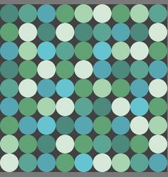 Green big dots tile pattern or background vector