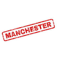 Grunge manchester rounded rectangle stamp vector