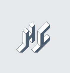 h and c - monogram or logotype hc - 2-letter code vector image