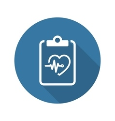 Heart Care Program and Medical Services Icon Flat vector