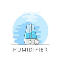 humidifier and hygrometer in flat style vaporizer vector image