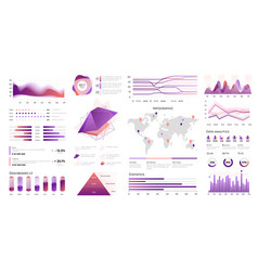 infographic ui data visualization with statistic vector image