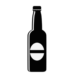 Isolated beer bottle design vector