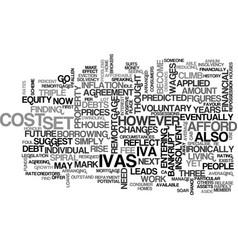 Ivas set to soar text background word cloud vector