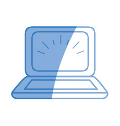 laptop knowledge online to help to study vector image