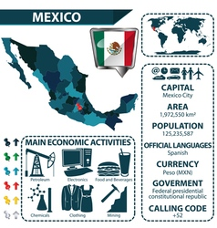 Mexico map with statistical data vector