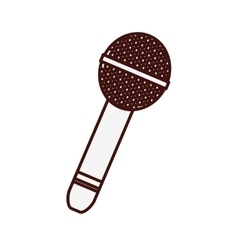 Microphone music icon image vector