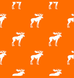 Moose pattern seamless vector