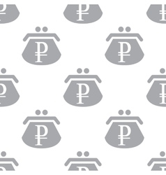 New Rouble purse seamless pattern vector image