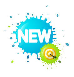 new symbol on splash with dart on target business vector image