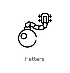 Outline fetters icon isolated black simple line vector