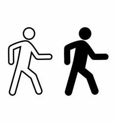 pedestrian icons set vector image