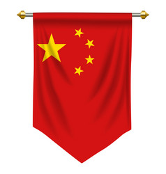 Peoples republic china pennant vector