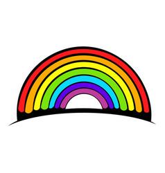 rainbow icon icon cartoon vector image