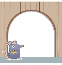 Rat with white blank vector image