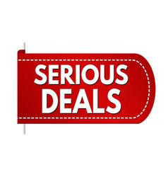 Serious deal banner design vector