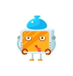 Sick Little Robot Character vector image