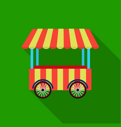 snack cart icon in flat style isolated on white vector image