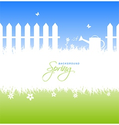 spring garden background with copyspace vector image