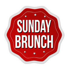 sunday brunch label or sticker vector image