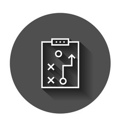 Tactical plan document icon with long shadow vector