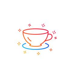 Tea cup line icon coffee drink sign vector