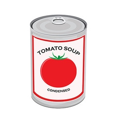 Tomato soup can vector image
