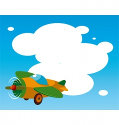 Toy plane template vector