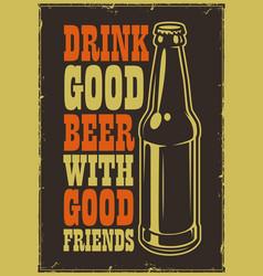 typographic beer poster vector image