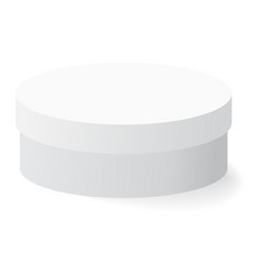 White box with shadow on background vector
