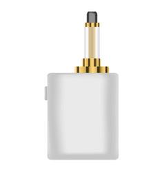 white vape device icon realistic style vector image