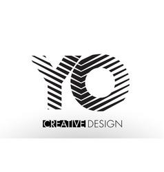 yo y o lines letter design with creative elegant vector image
