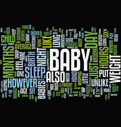 your baby s growth and development text vector image
