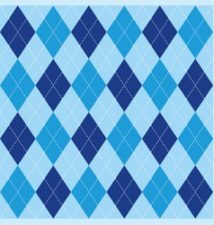 argyle pattern blue rhombus seamless texture vector image