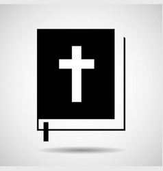 bible icon isolated on white background religion vector image