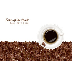 desing with coffee and bean white background vector image vector image