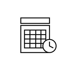 timed calendar event icon vector image