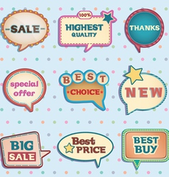 Vintage speech bubbles vector image vector image