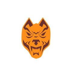 Angry Wolf Head Retro vector image vector image
