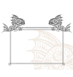 Detailed medieval decorative frame as vintage vector