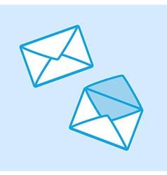 Envelope Icon Simple Blue vector image