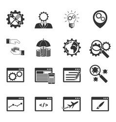 internet marketing icons set vector image vector image
