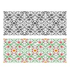 Light seamless floral handicraft painting border vector image