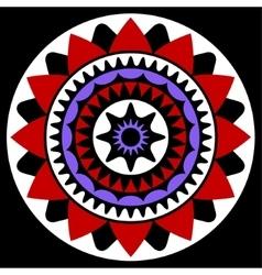 red purple white and black mandala vector image