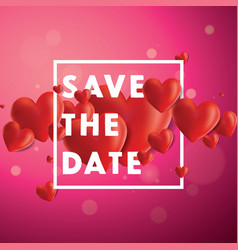 save the date background vector image vector image