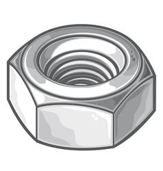 Screw nut vector image