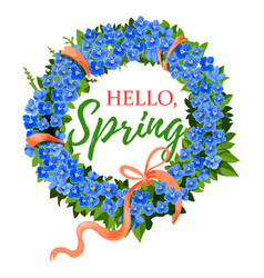 spring holiday crocus flowers wreath vector image vector image