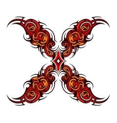 Decorative cross tattoo vector image
